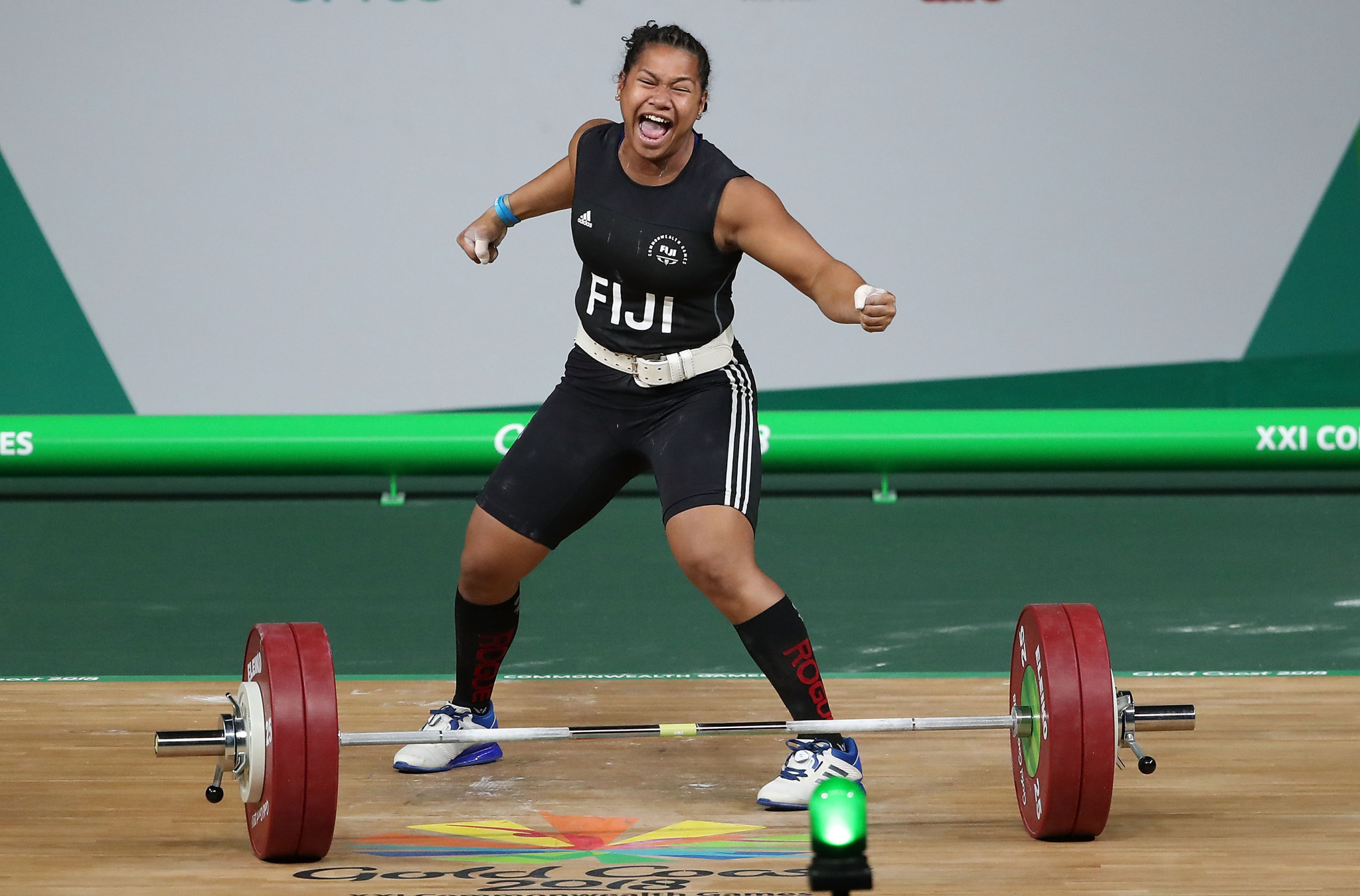 Eileen Cikamatana competed for Fiji at the 2018 Commonwealth Games in Gold Coast ©Getty Images