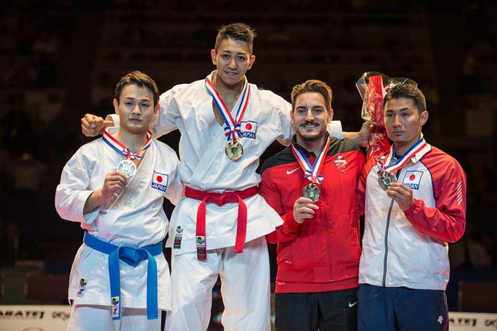 Reigning men's world kata champion Ryo Kiyuna took gold on the opening day in Okinawa ©Xavier Servolle/WKF