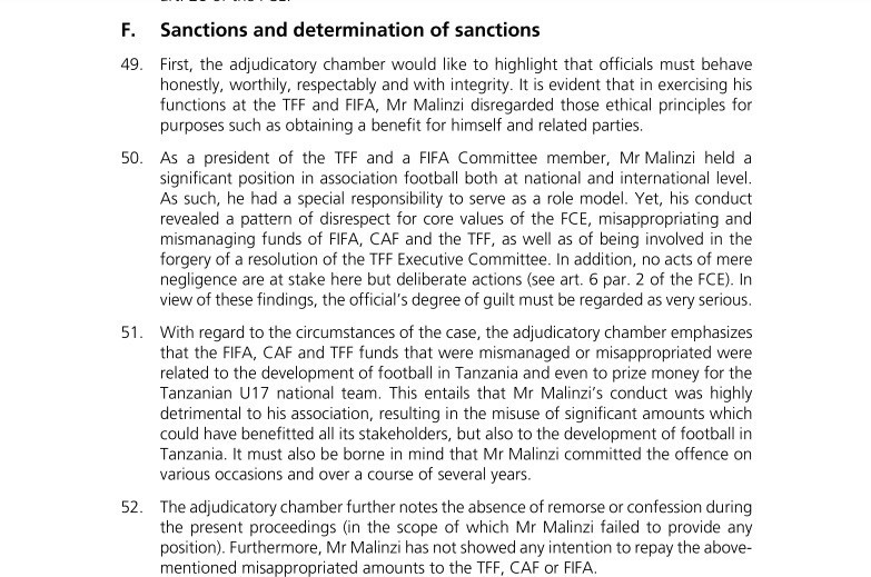 The full decision in the case has been published on FIFA's new legal portal ©FIFA