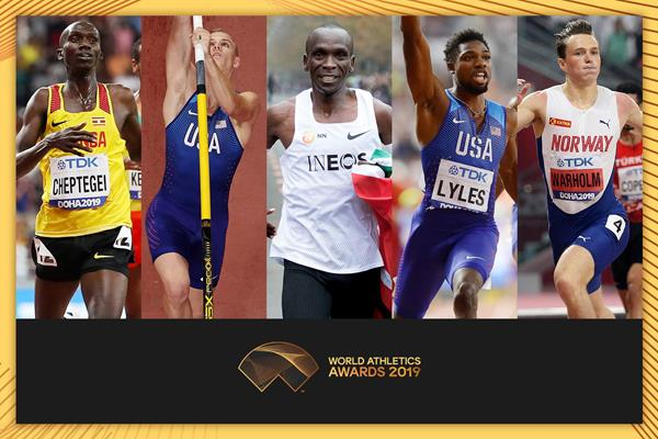 Kipchoge among five finalists for Male World Athlete of the Year