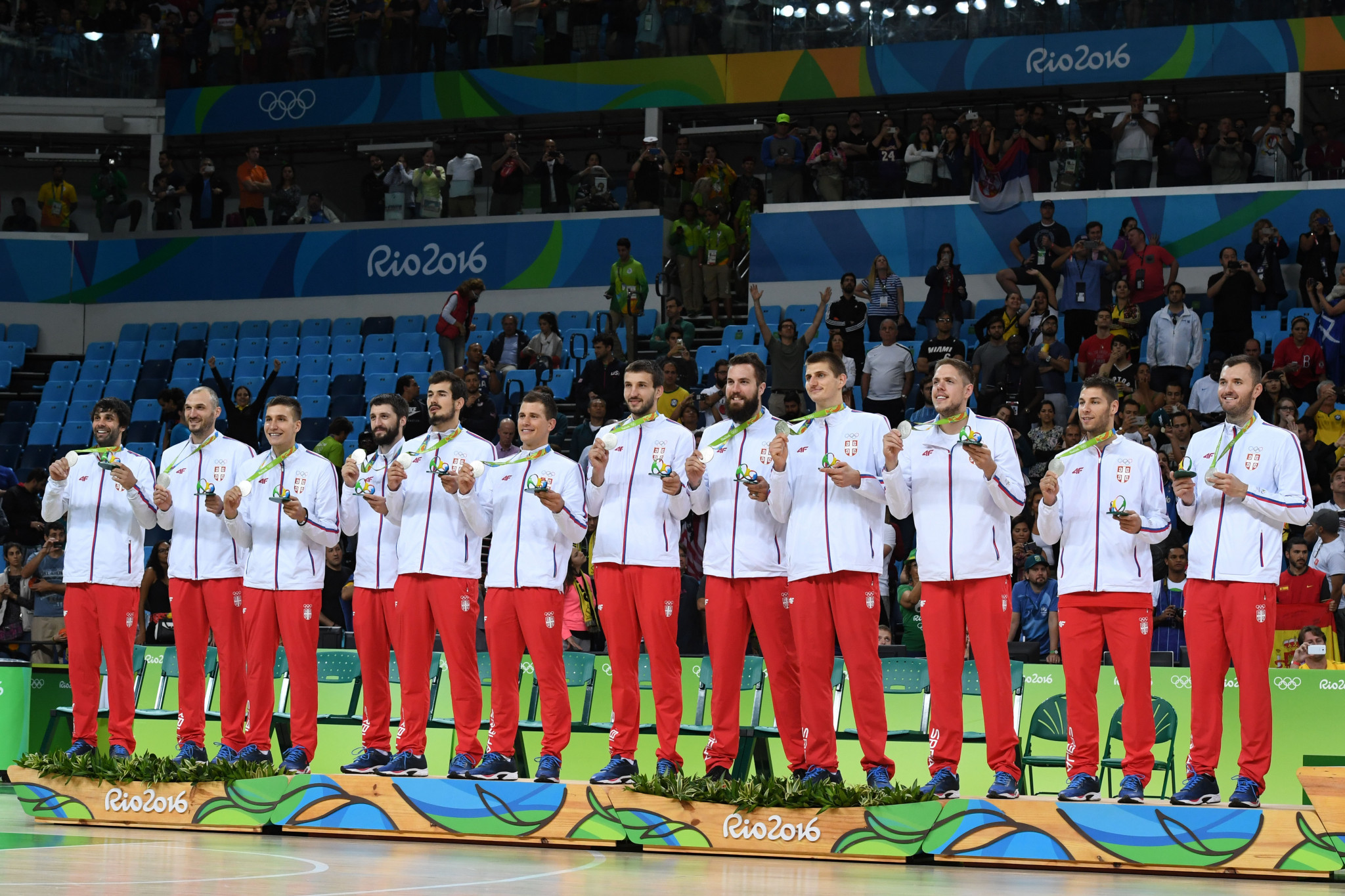 Serbia won silver at Rio 2016 but Nemanja Bjelica was absent ©Getty Images