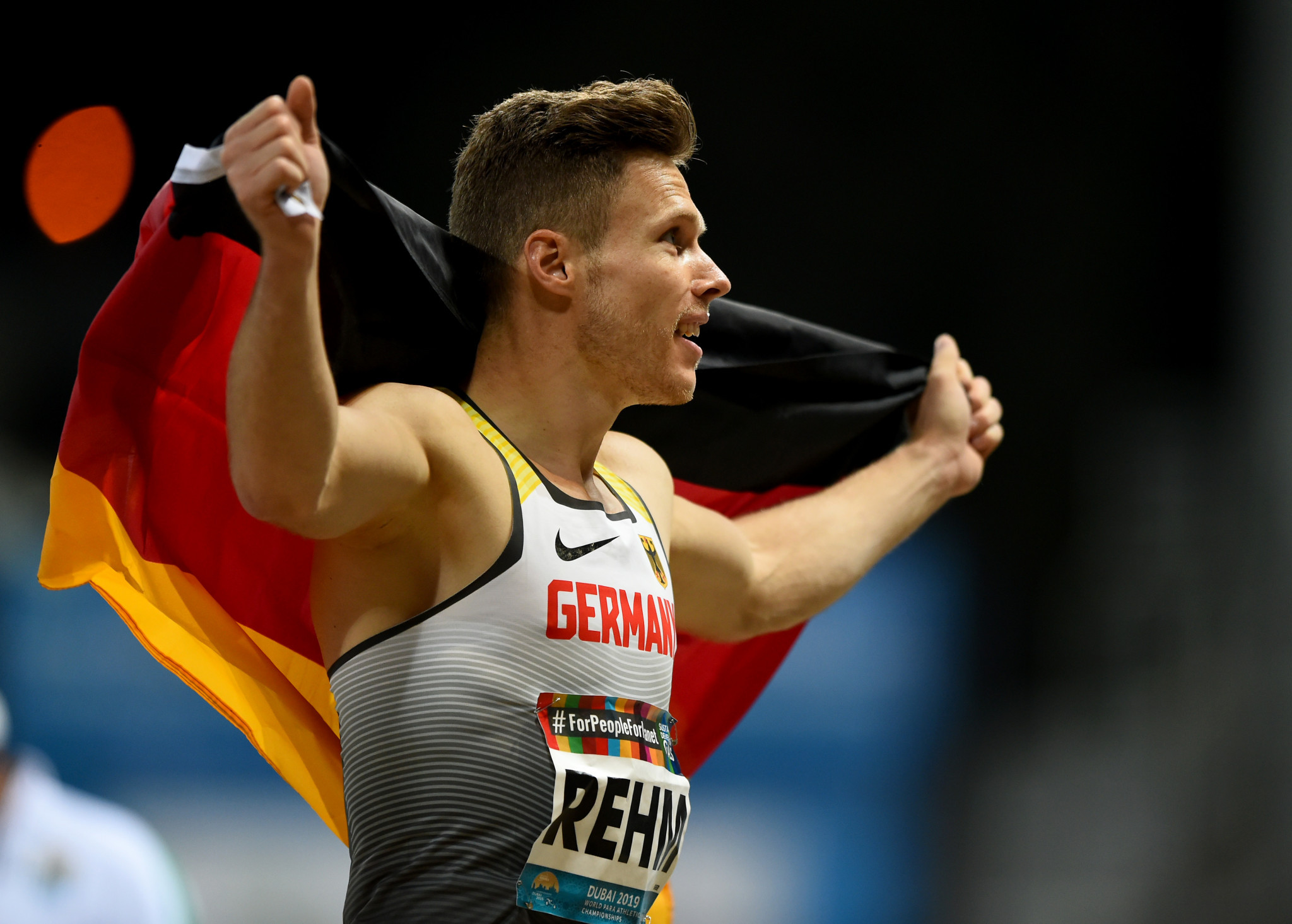 Germany's Markus Rehm was among the stand-out performers today at the World Para Athletics Championships in Dubai ©Getty Images