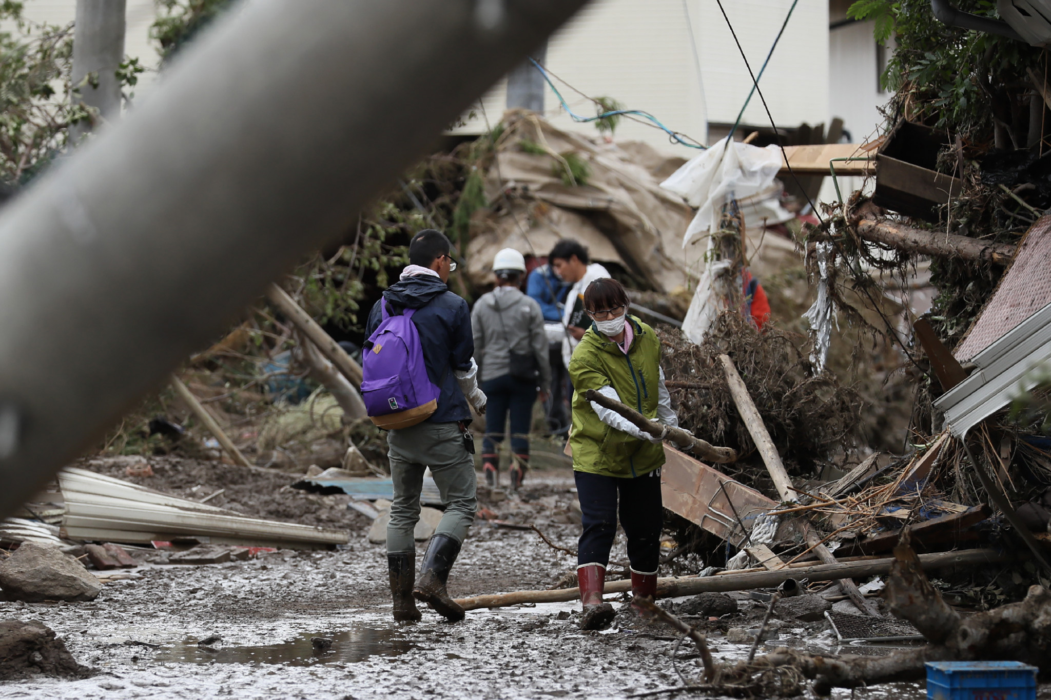 Typhoon Hagibis caused widespread damage in Japan and nearly 90 people died ©Getty Images