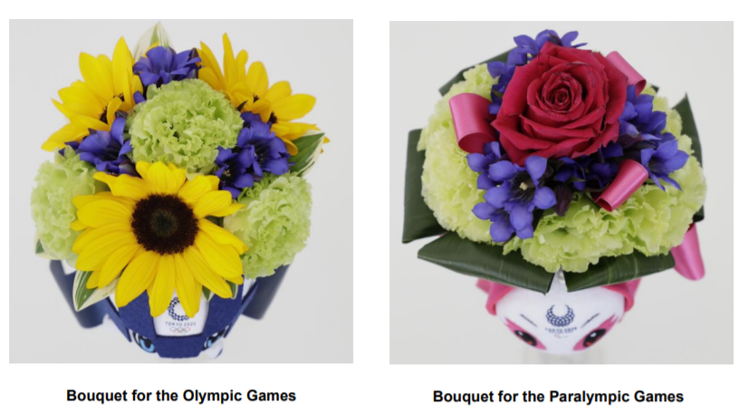 The actual bouquets used could look different depending on what flowers are in season ©Tokyo 2020