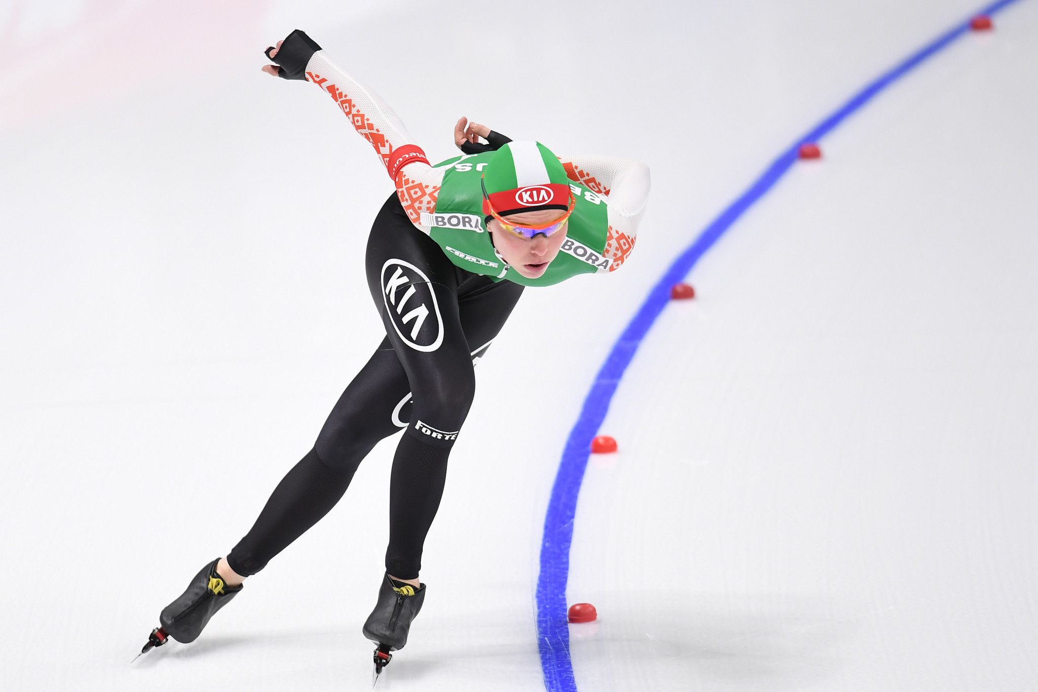 Zueva leads home challenge at ISU Speed Skating World Cup opener in Minsk