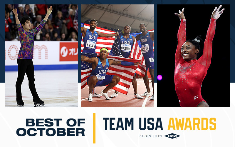 Biles and Chen among recipients of USOPC Best of October awards