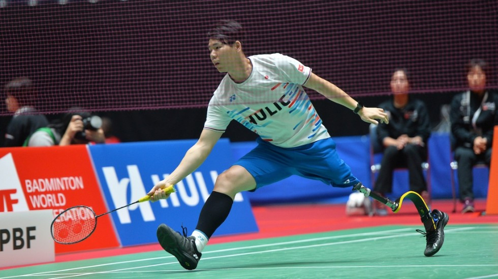 Daisuke Fujihara is looking to win back the men's singles standing lower three title at the Japan Para Badminton International ©BWF