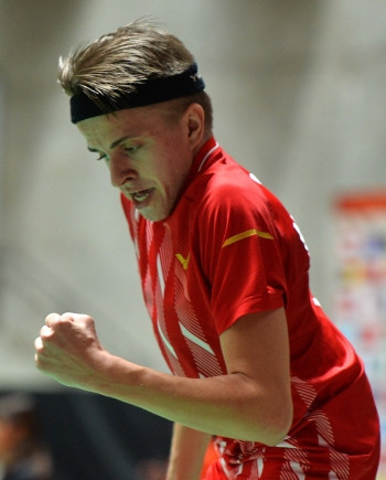 Sweden's Rickard Nilsson had an up-and-down day in the men's singles standing lower four event ©BWF