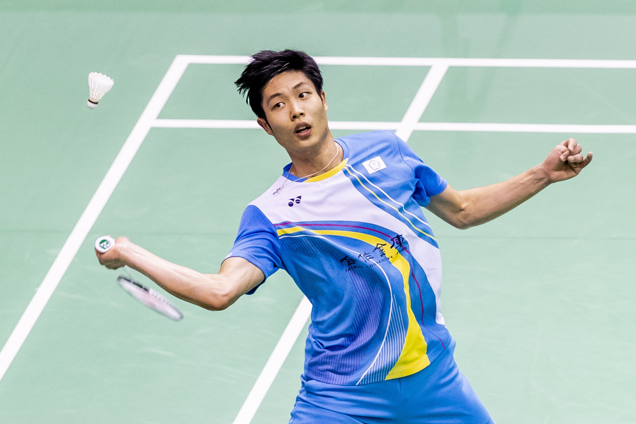 Men's second seed Chou Tien-chen came from behind to go through ©Getty Images