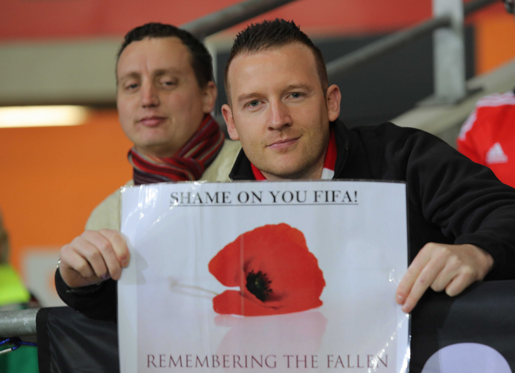There was anger among British football fans at FIFA's claim the poppy was a political symbol ©Getty Images