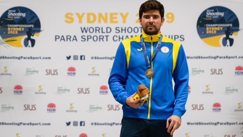 Ukrainian Para-shooter Oleksii Denysiuk finished third in the IPC Allianz Athlete of the Month for October award ©IPC