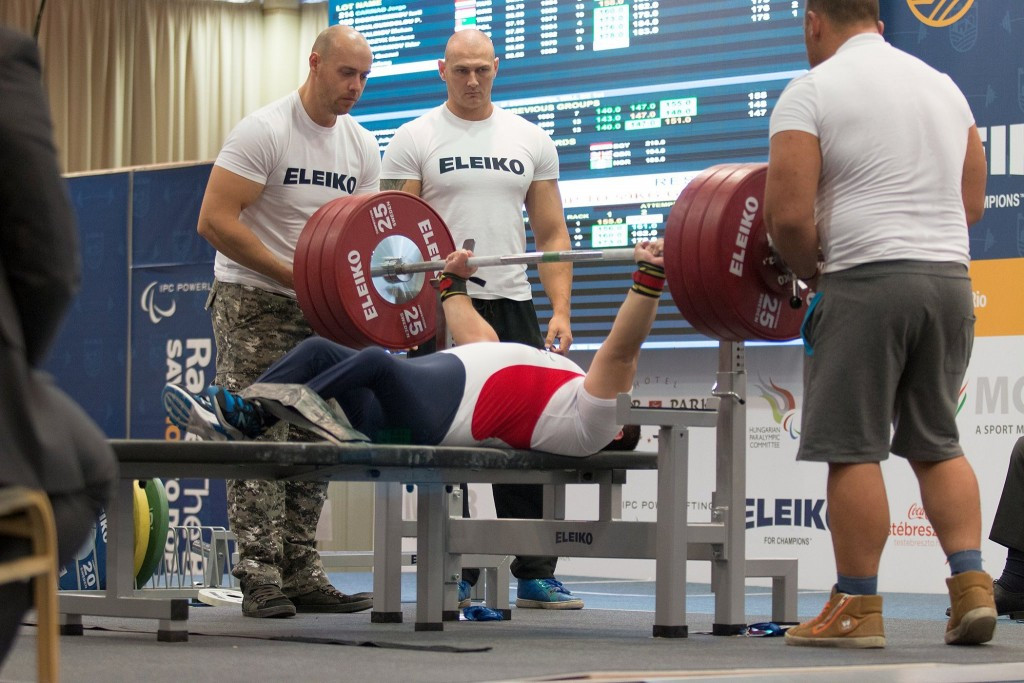 Huseynov  breaks world record but settles for silver at IPC Powerlifting European Open Championships