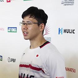 Daisuke Fujihara of Japan reached the quarter-finals of the Japan Para Badminton International ©Paralympics