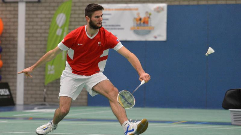 Lucas Mazur of France reached the semi-finals of the Japan Para Badminton International ©Paralympics