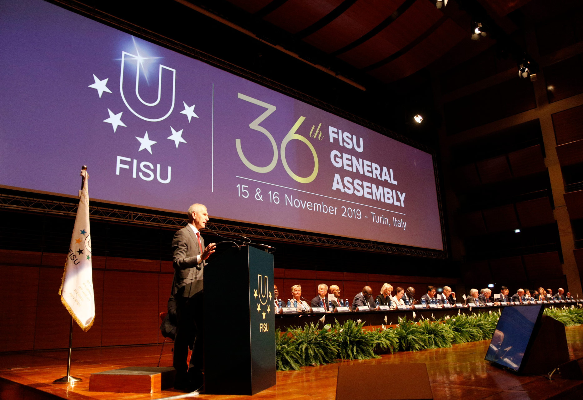 FISU President FISU General Assembly highlights progress under President Oleg Matytsin opened the 36th edition of the organisation's General Assembly in Turin today ©FISU