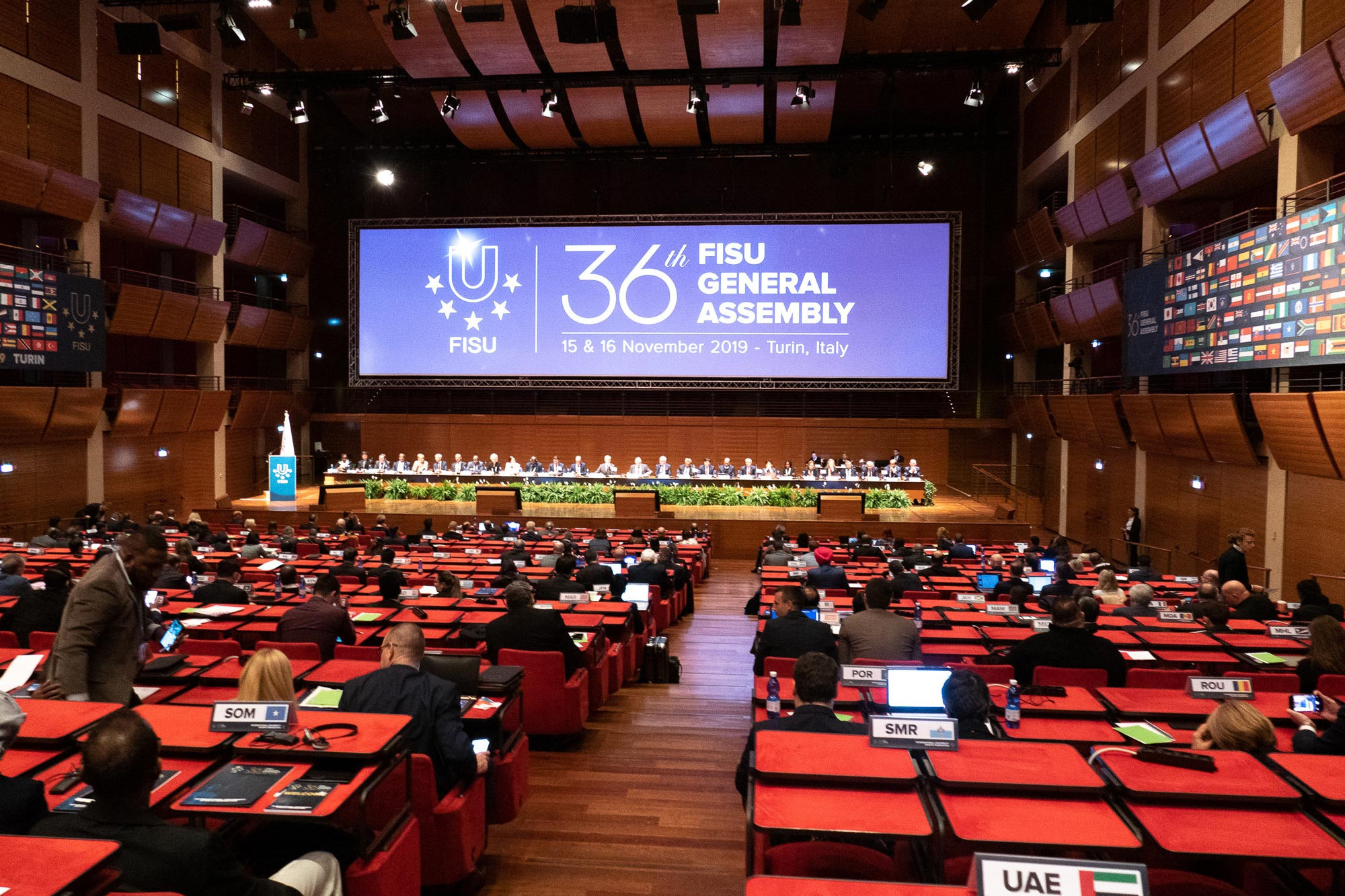 The General Assembly took place in the Lingotto Congress Center in Turin, which is part of the old Fiat factory ©FISU