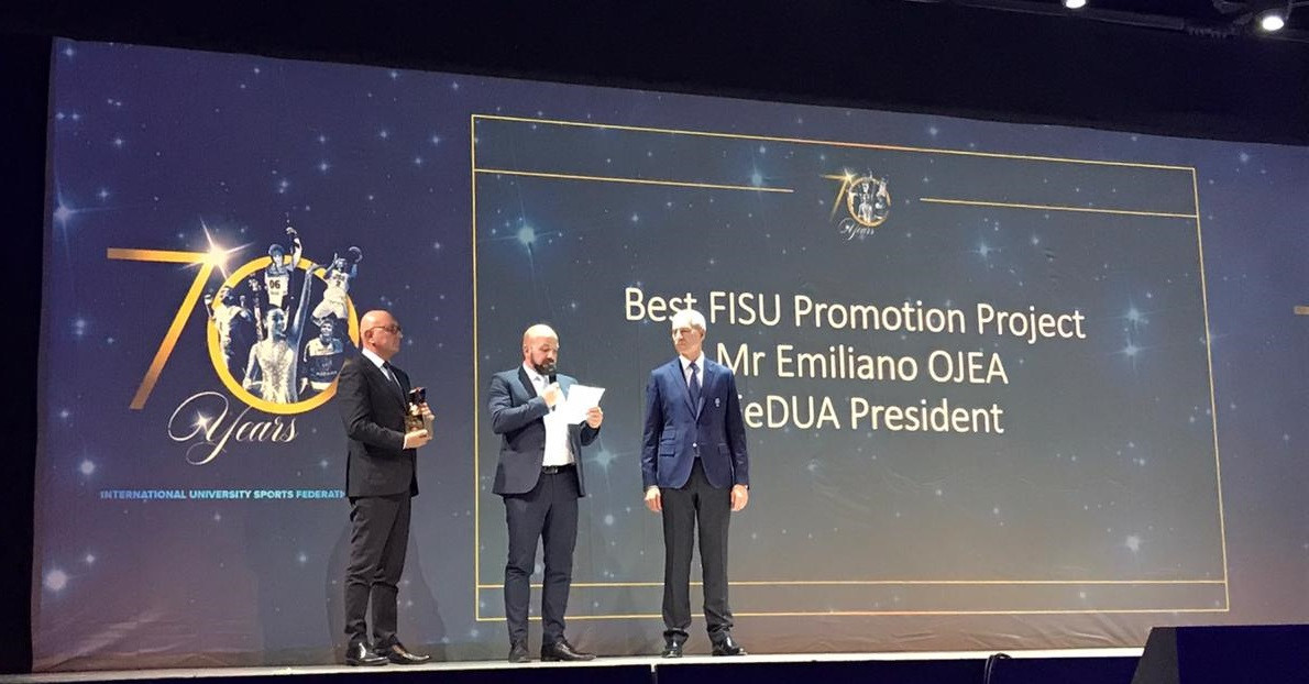 "The Argentine University Sports Federation were among the winners at the FISU Gala for the ""Best FISU Promotion Project"" ©FeDUA"
