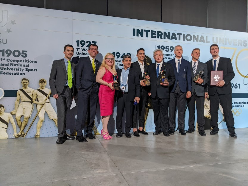 The awards at the FISU Gala included insidethegames for