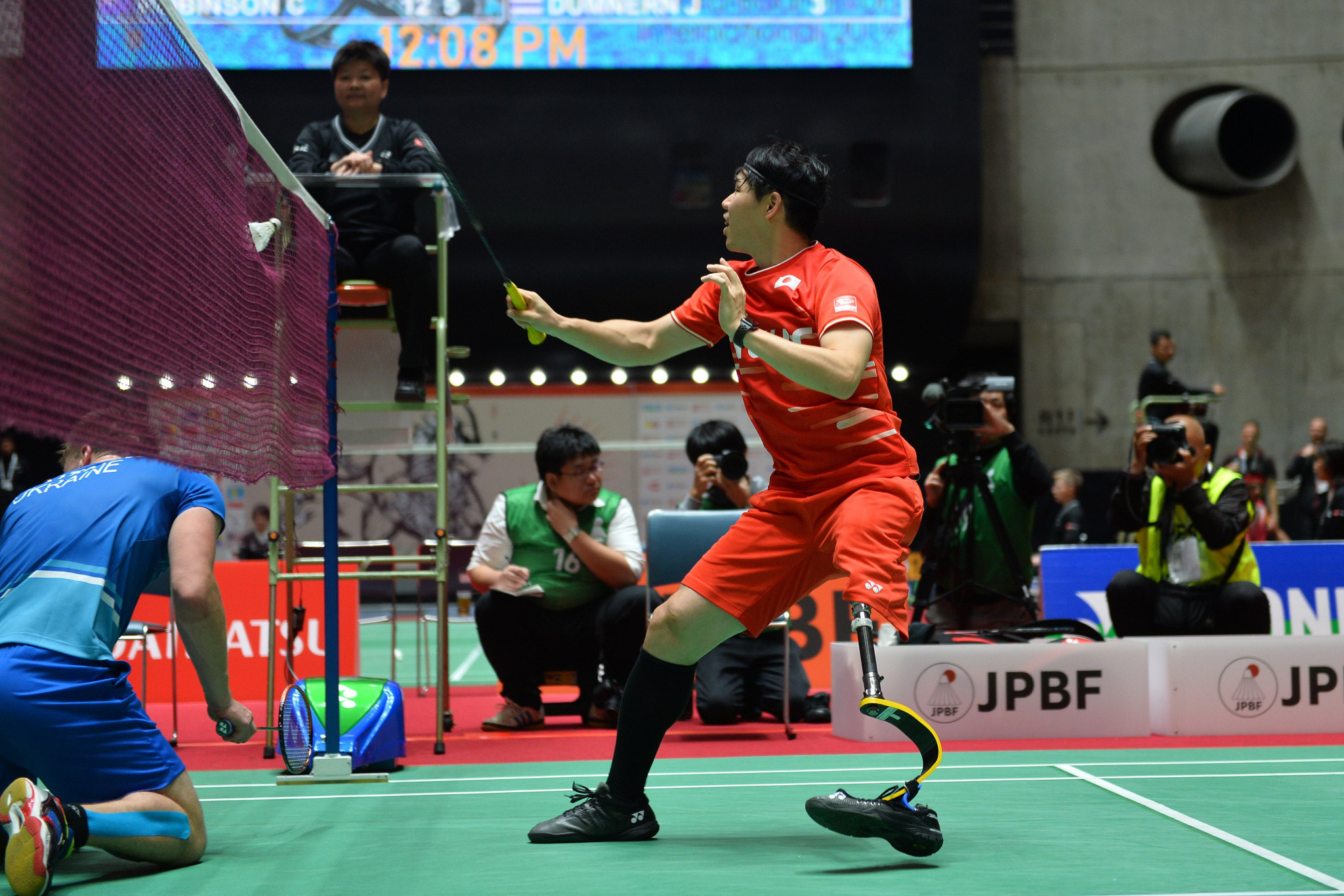 Daisuke Fujihara of Japan was knocked out of the Tokyo 2020 Para-badminton test event in the quarter-finals ©BWF