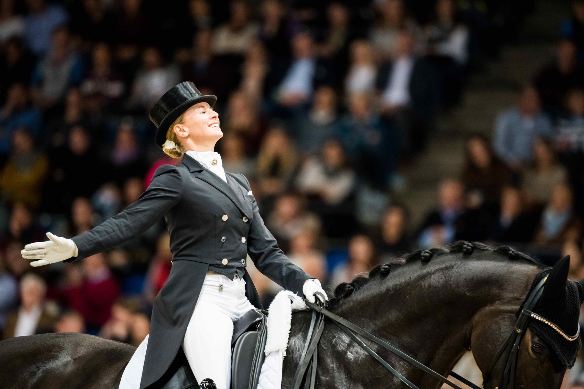 Jessica von Bredow-Werndl triumphed on a day of German dominance in Stuttgart ©FEI