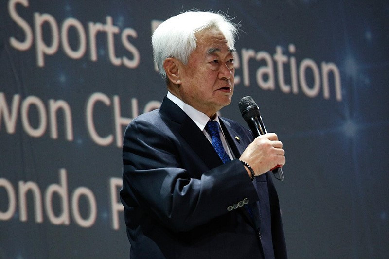 World Taekwondo President thankful after receiving FISU award