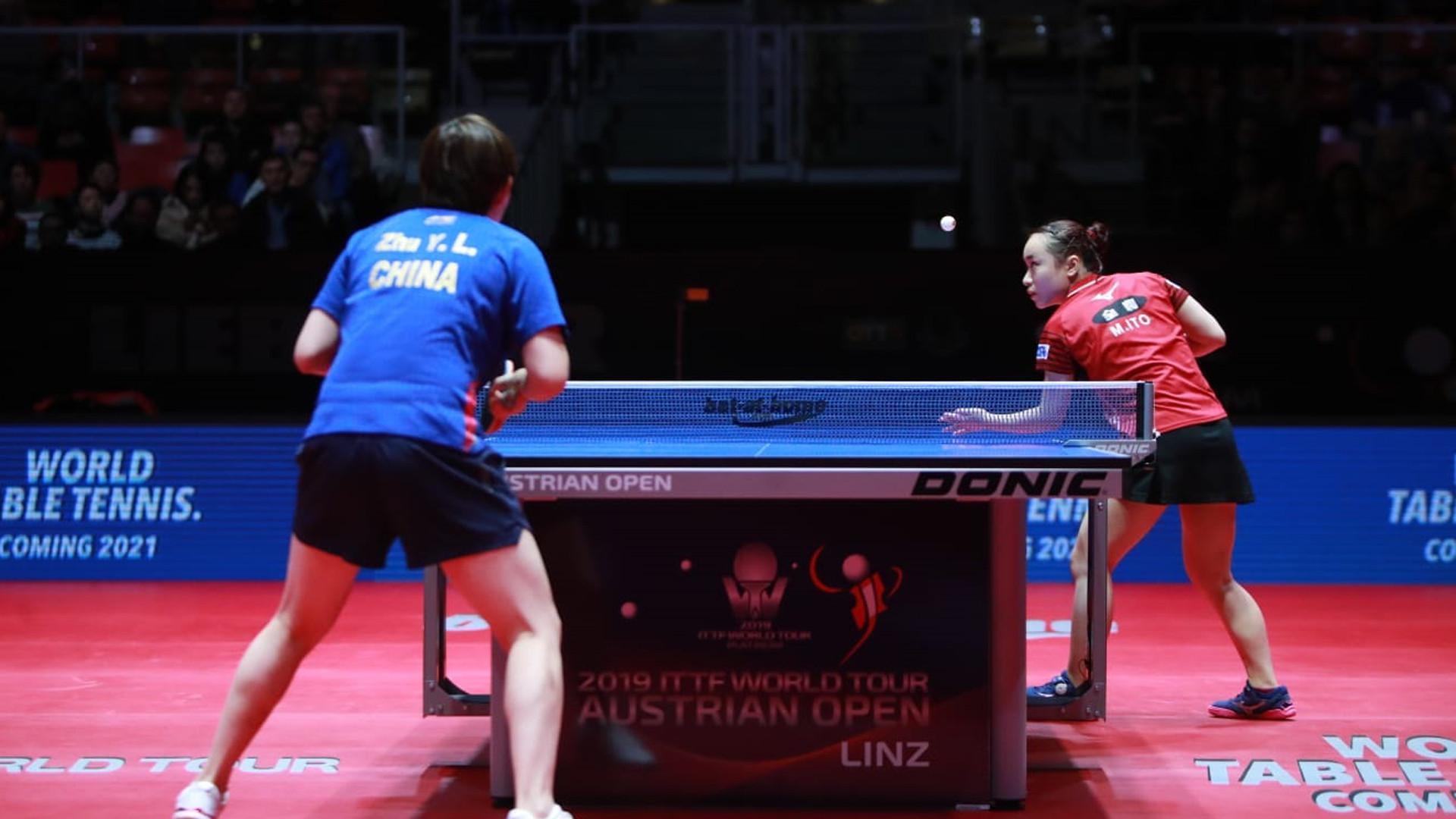 Mima Ito beat Zhu Yuling in the women's singles final ©ITTF