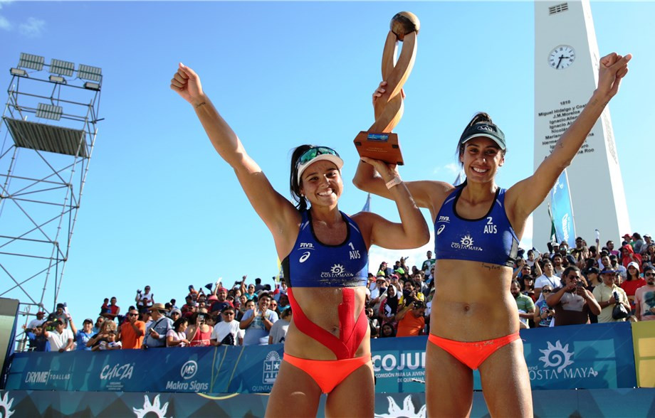 Taliqua Clancy and Mariafe Artacho came from behind again to win the women's tournament ©FIVB