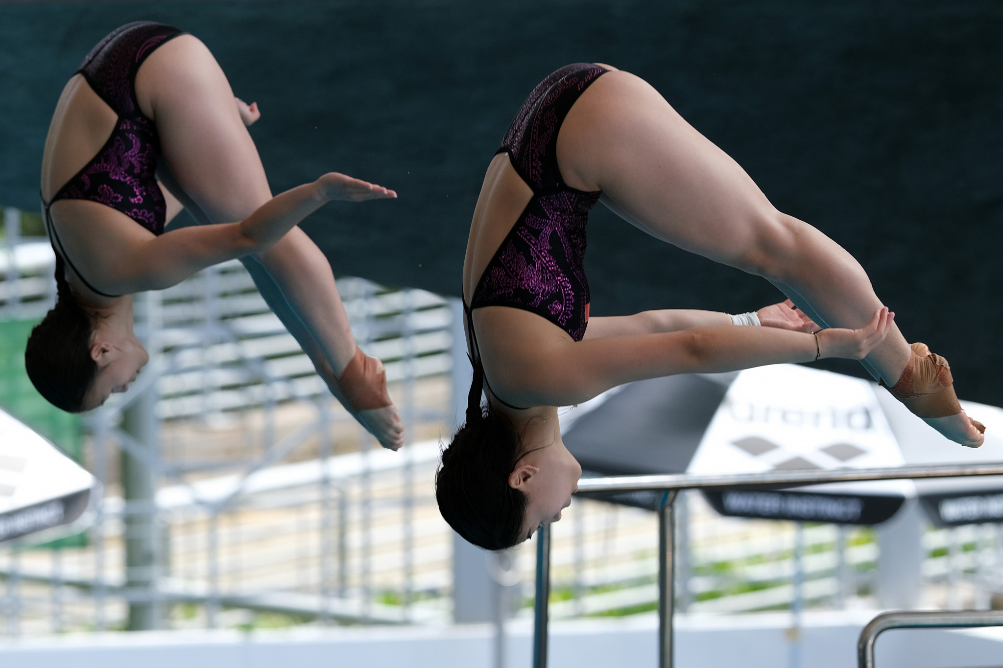 China's Huang Xiaohui and Wei Ying were the gold medallists in the women's 3m synchronised springboard ©Getty Images