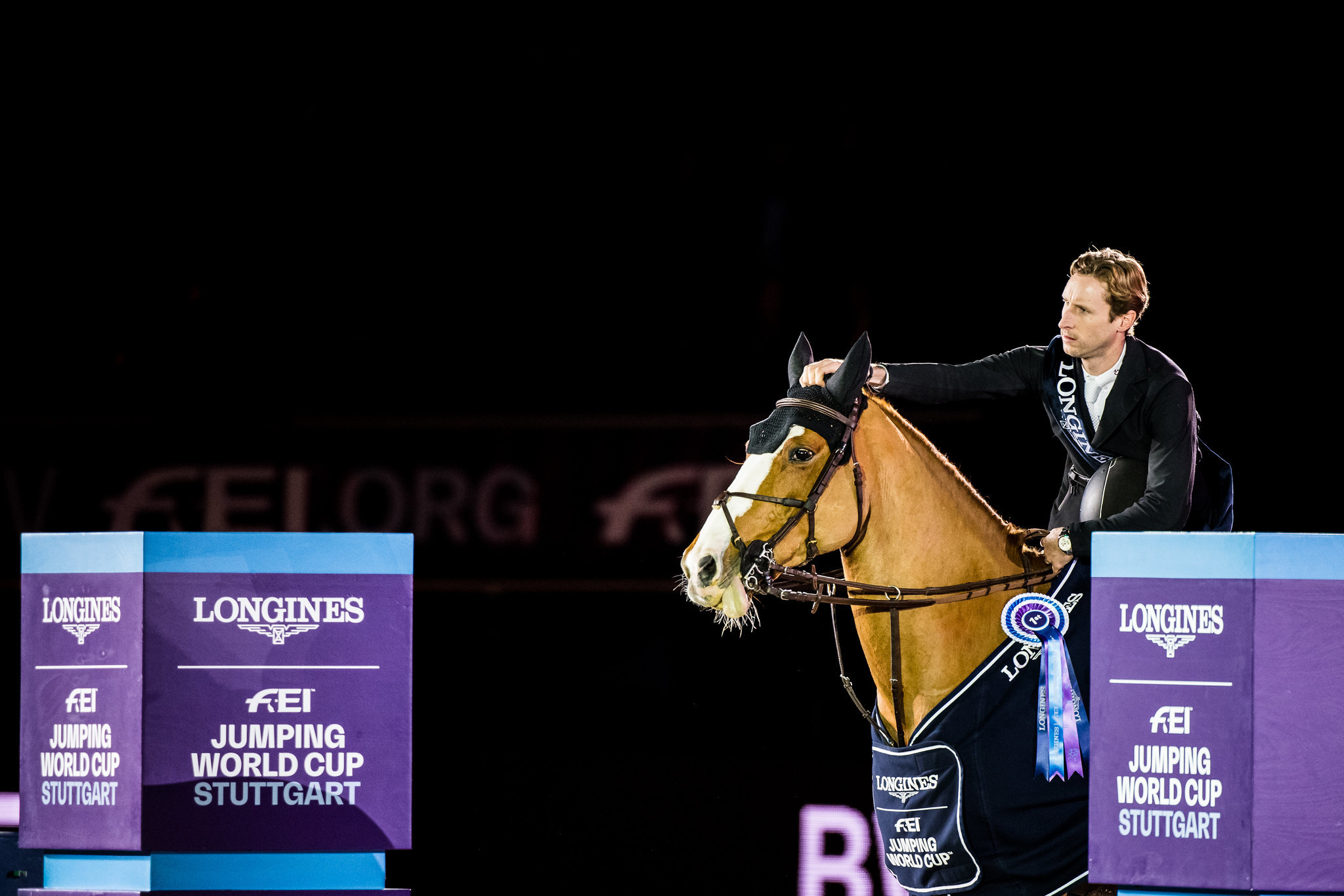 Pieter Devos triumphed with Apart in the German city ©FEI