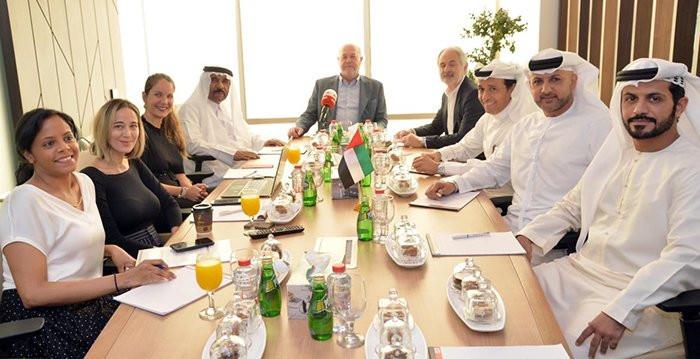 Antonio Espinós held successful talks with the 2020 Karate World Championships Organising Committee in Dubai ©WKF