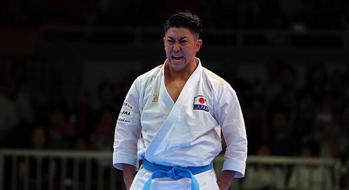 Japan's Ryo Kiyuna leads the men's kata standings ©WKF