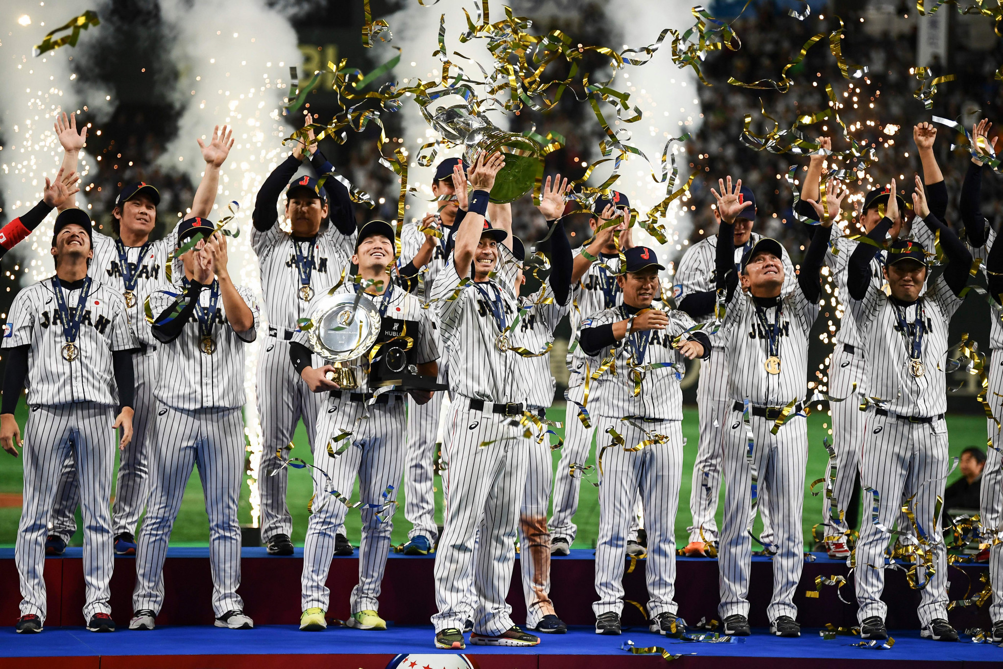 Japan were crowned the WBSC Premier12 champions after beating South Korea in the final ©Getty Images