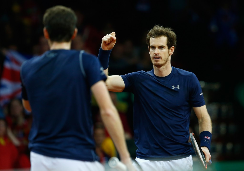 Murray brothers put Britain on verge of first Davis Cup victory since 1936