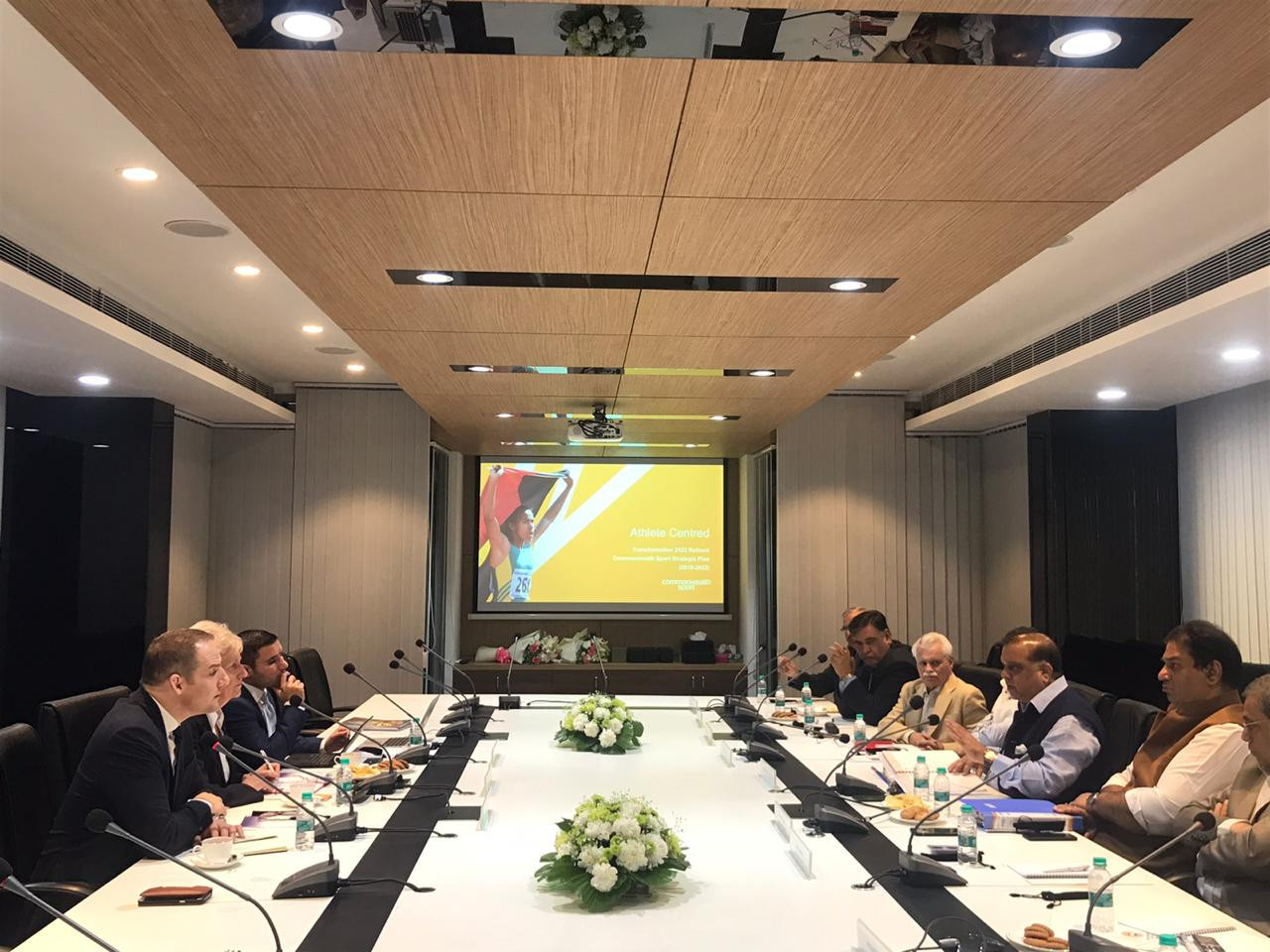 Many matters were discussed, including legacy, future Commonwealth Games bids and the sport of shooting ©CGF