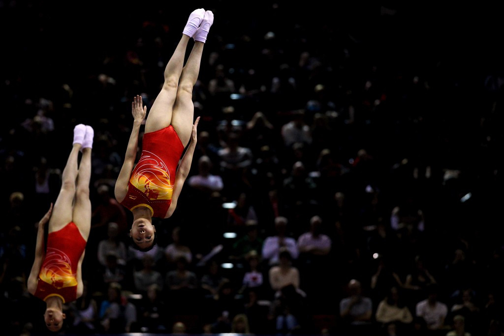 China claim synchro double at Trampoline Gymnastics World Championships