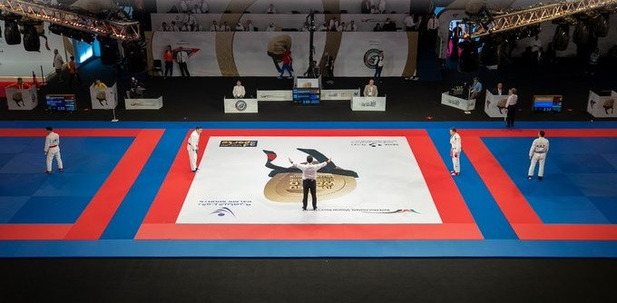Action continued today at the JJIF World Championships in Dubai ©UAEJJF/Twitter