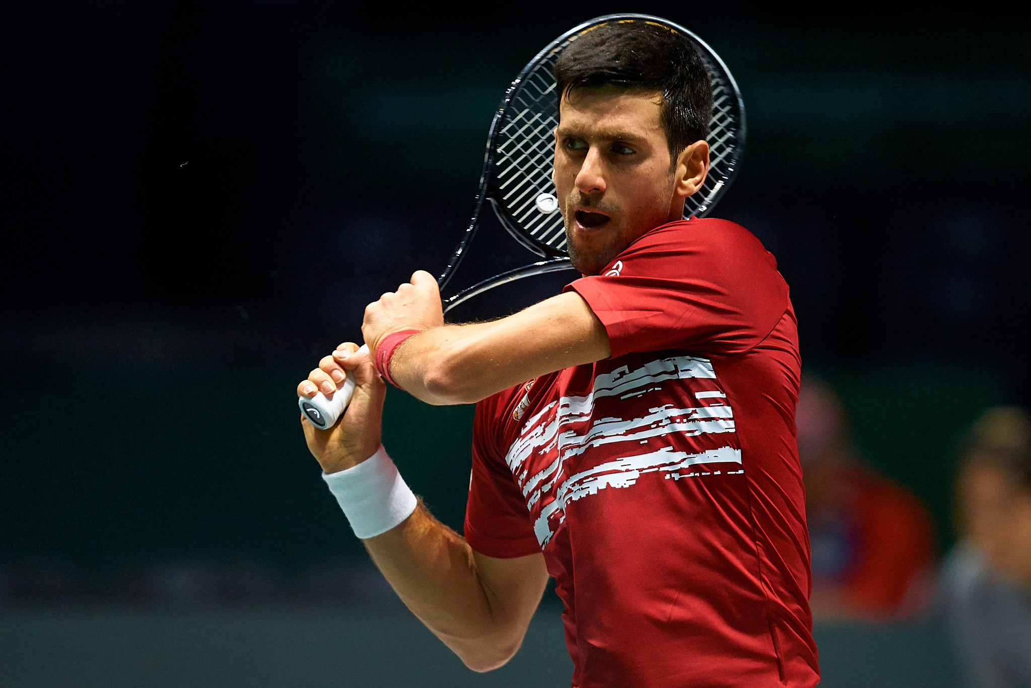 Novak Djokovic helped Serbia to a comfortable win over Japan ©Getty Images