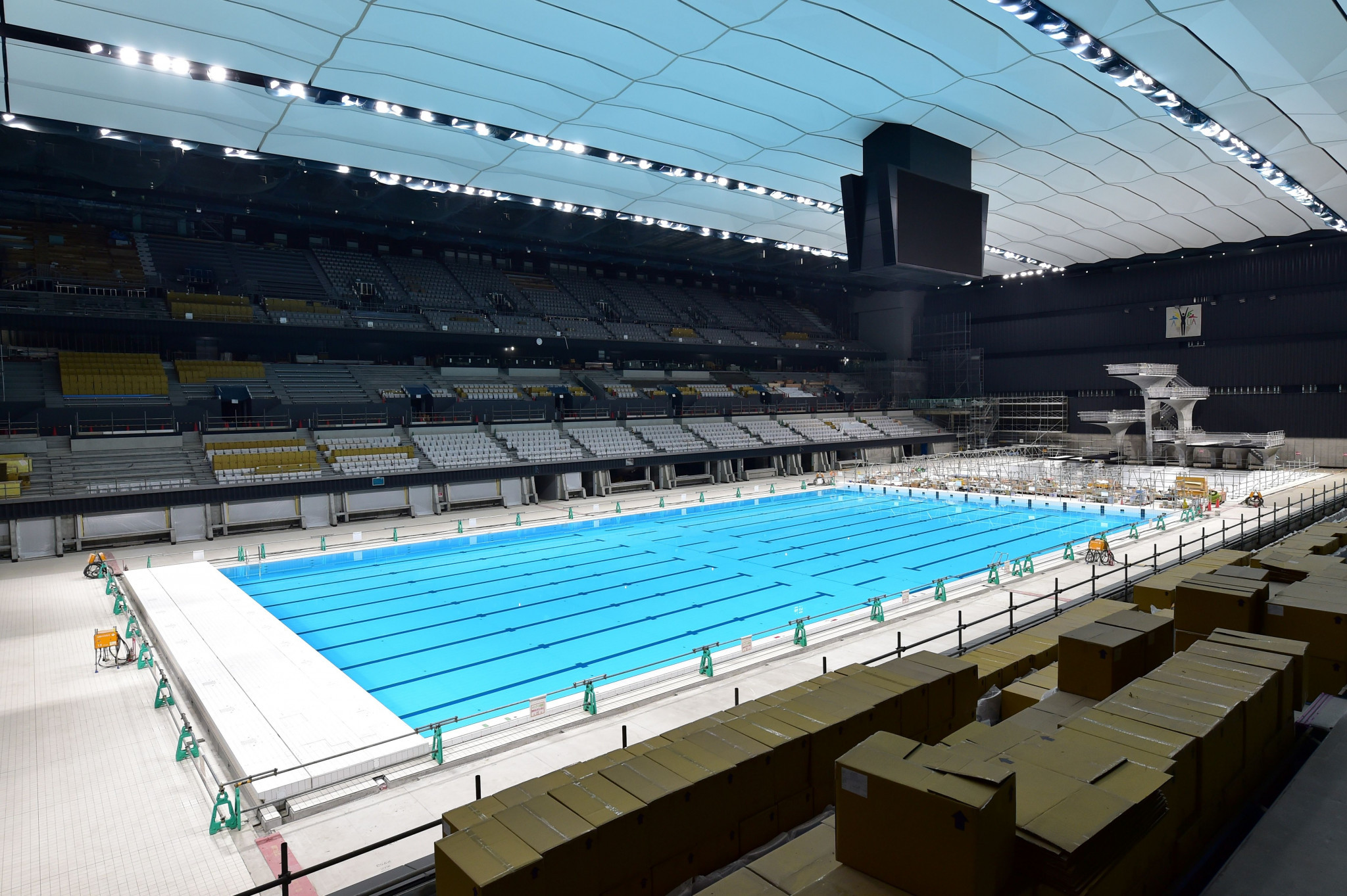 Olympic Aquatics Centre and Ariake Arena previewed as construction nears completion