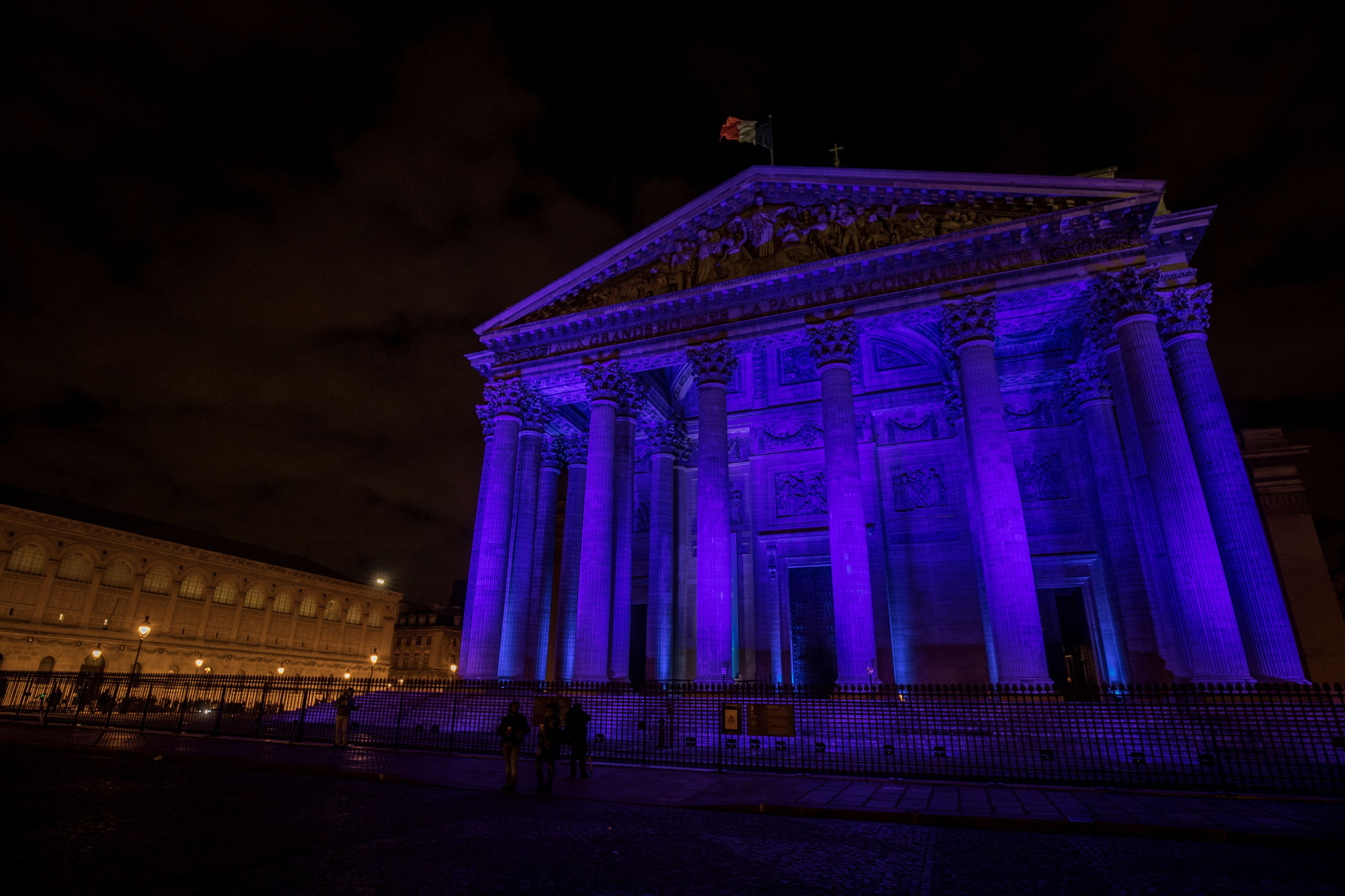 Landmarks were lit up in blue to mark the day ©Getty Images