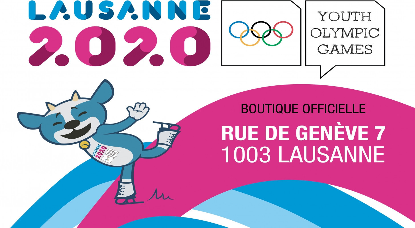 Organisers of the 2020 Winter Youth Olympics in Lausanne are encouraging people to pay a visit to the brand-new official shop for the Games ©Lausanne 2020