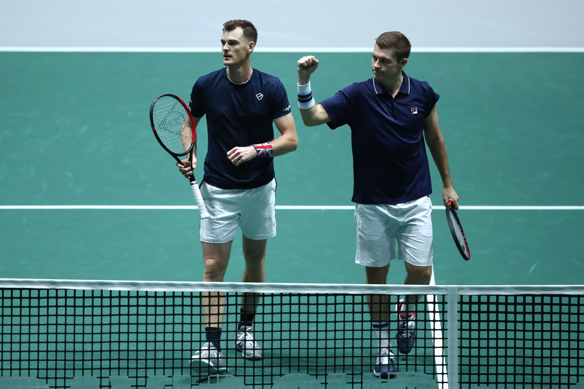 Great Britain's Jamie Murray and Neal Skupski won their pivotal doubles match to clinch victory over Kazakhstan ©Getty Images