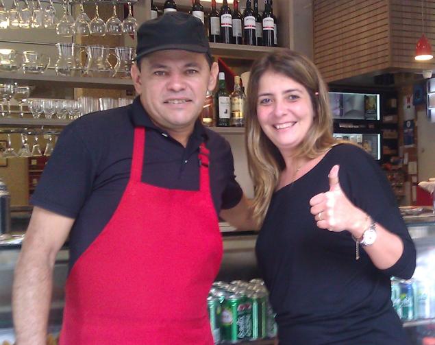 Manolo and Renata in Manolo's Restaurant - a wonderful memory of my time in Botafogo, Rio de Janeiro ©David Owen
