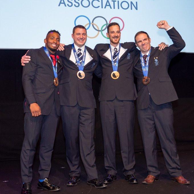 British four-man bobsleigh team receive Sochi 2014 Olympic bronze medals at Team GB Ball