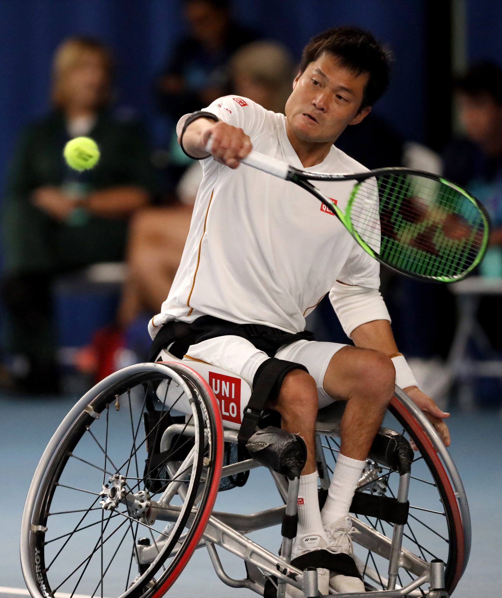 Japan's Shingo Kunieda maintained his 100 per cent record in the men's singles event ©Getty Images