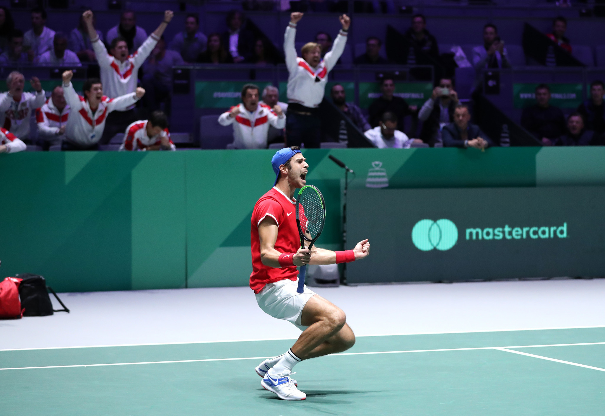 Russia clinch semi-final place after dramatic Davis Cup win over Serbia