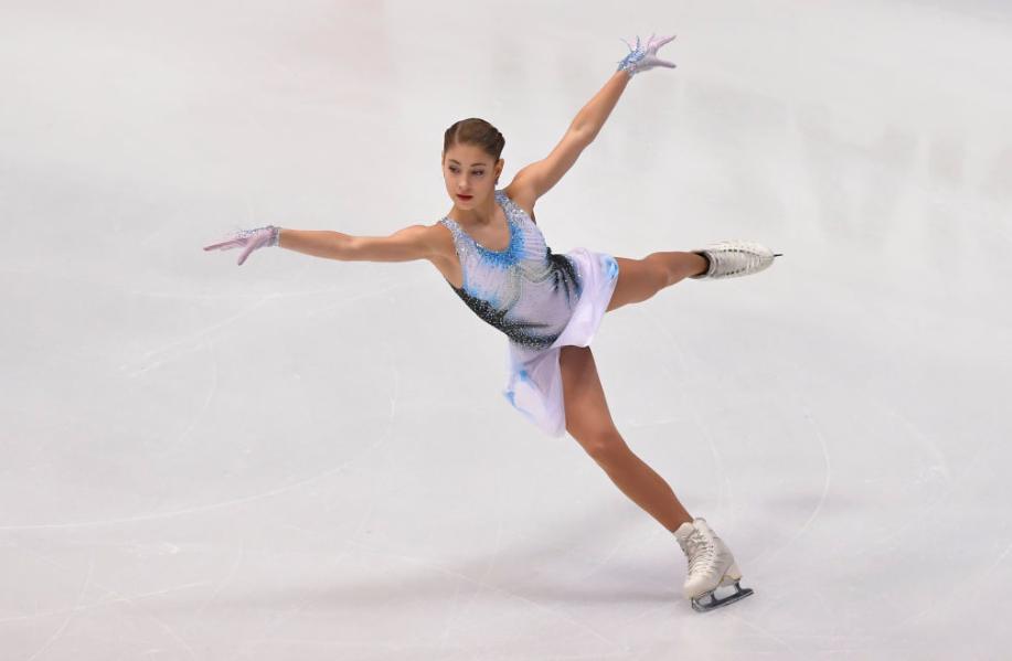 A brilliant routine from Alena Kostornaia delivered a world record ©ISU