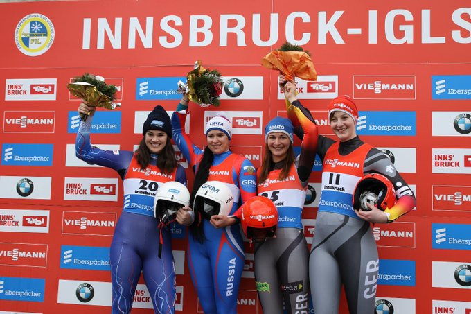 Ivanova triumphs in women's event at season-opening Luge World Cup
