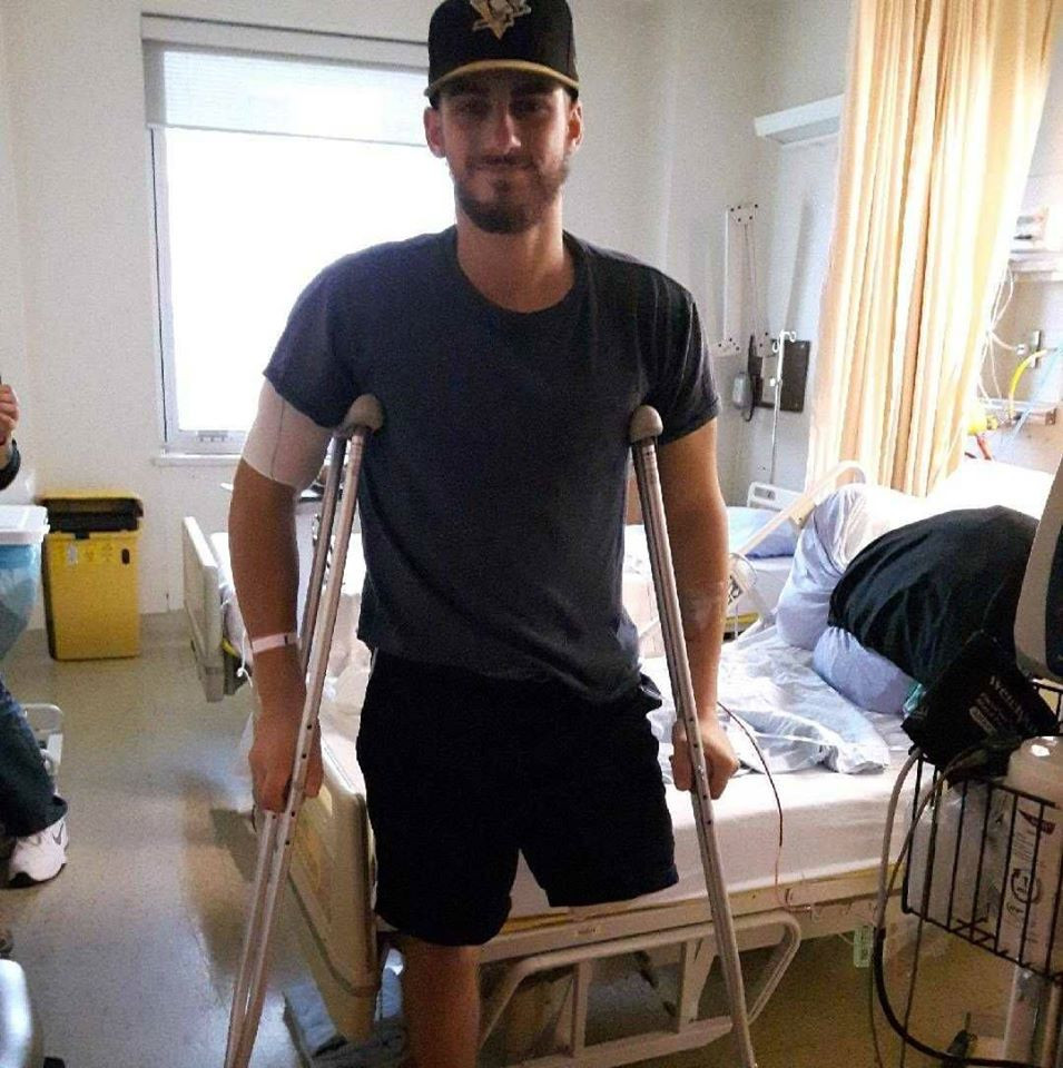 Garrett Riley took the cannabis to help relieve chronic pain he was suffering following an operation to amputate his left leg in November 2017 but it was banned by WADA without a TUE ©Facebook