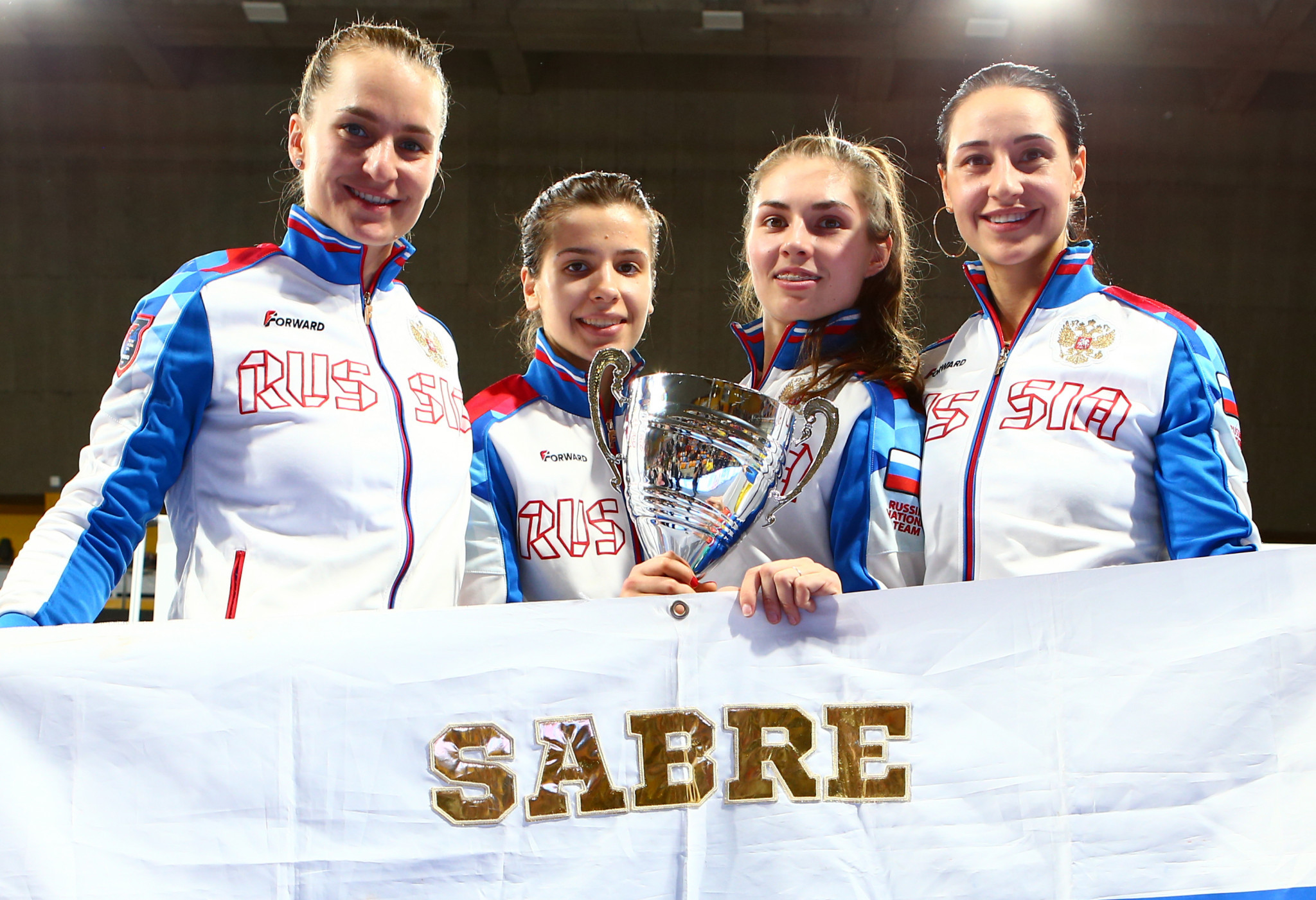 Russia earn team gold at FIE Women's Sabre World Cup in Orléans