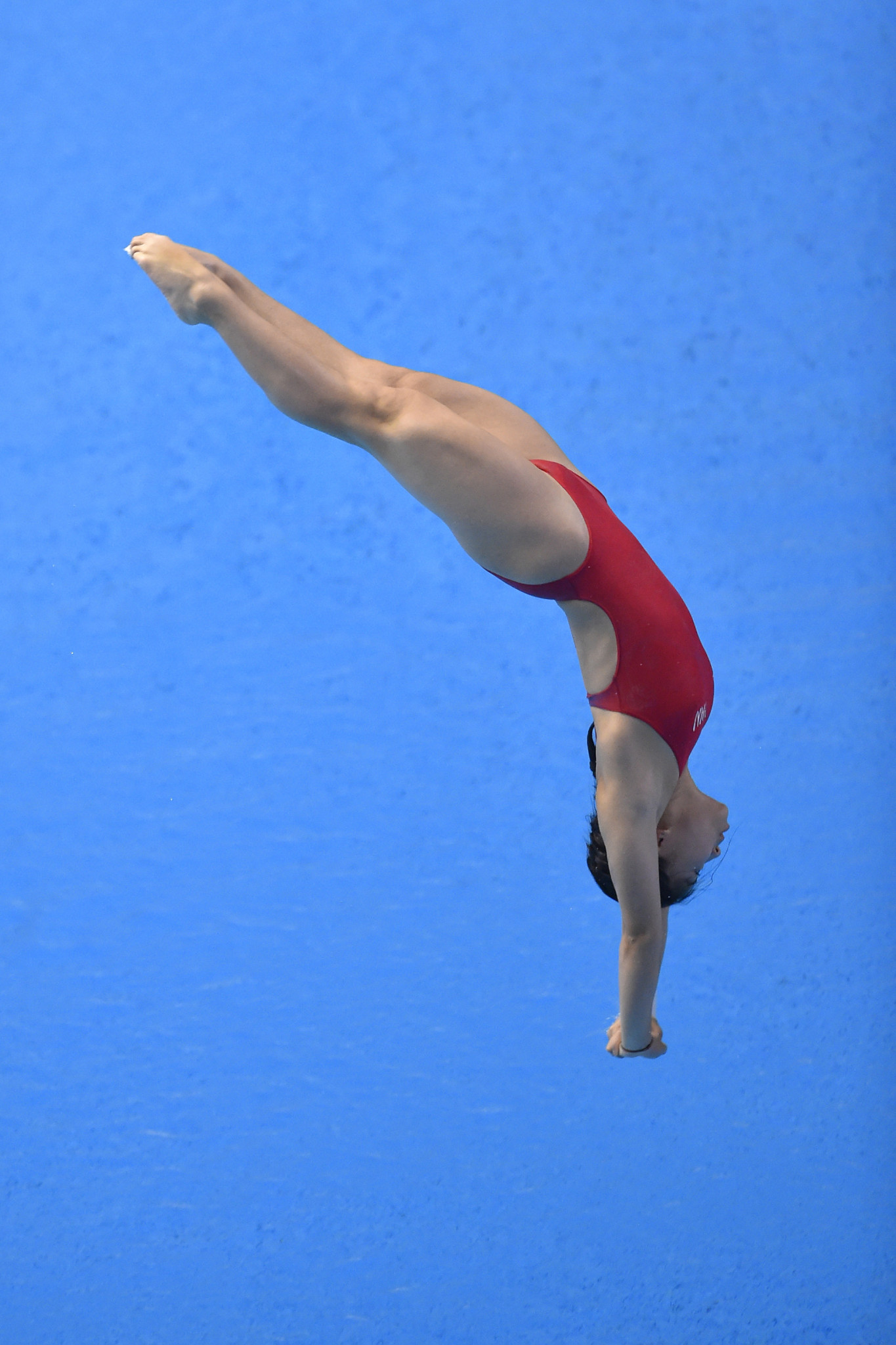 Huang Xiaohui was the winner in the women's 3m springboard competition at the FINA Diving Grand Prix event in Singapore ©Getty Images
